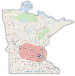 Minnesota Photo Booth Service Map