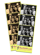 Colored Photo Booth Strips